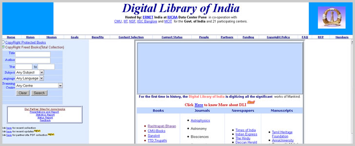 Digital Library of India: Indian Institute of Science