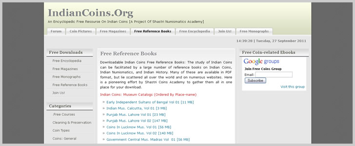 IndianCoins.Org - Free Reference Books