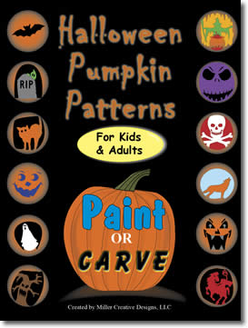 Halloween Pumpkin Patterns: Paint or Carve by Clay Miller