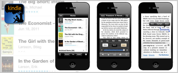 Amazon Kindle iPhone App