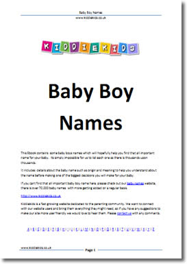 Baby Names (Baby Boy Names) by Lee Suggitt
