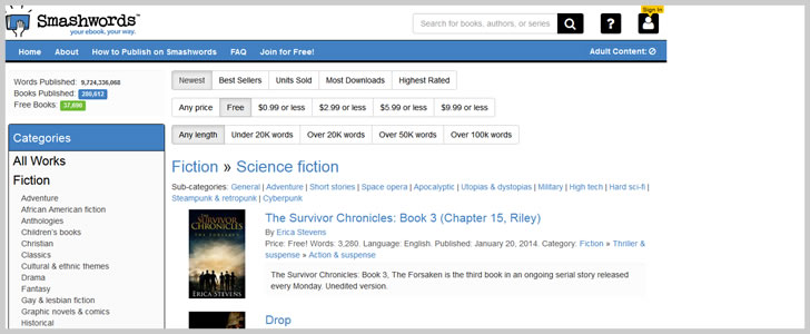Smashwords.com (Sci-Fi)