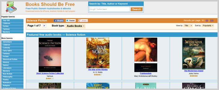 Booksshouldbefree.com (Sci-Fi & Fantasy)