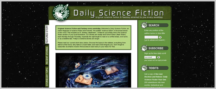 Dailysciencefiction.com (Sci-Fi & Fantasy)