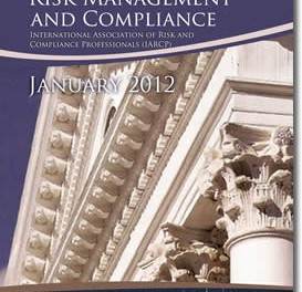 Understanding Risk Management And Compliance – January 2012