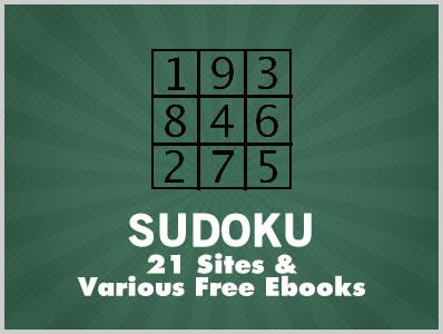 Sudoku: 21 Sites & Various Free Ebooks   Download Free