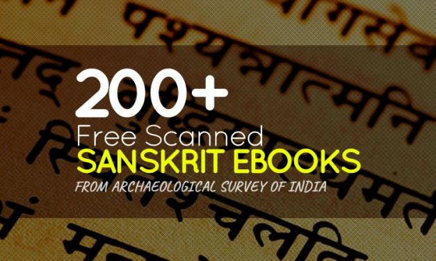 200+ Free Scanned Sanskrit Ebooks from Archaeological Survey of India