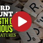 (Video) Word Count & Length of Famous Literatures