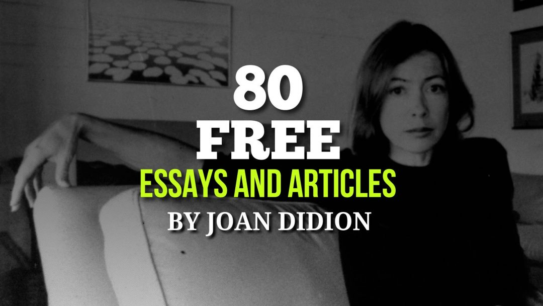 essays by joan didion Slouching towards bethlehem: essays - ebook written by joan didion read this book using google play books app on your pc, android, ios devices download for offline reading, highlight, bookmark or take notes while you read slouching towards bethlehem: essays.