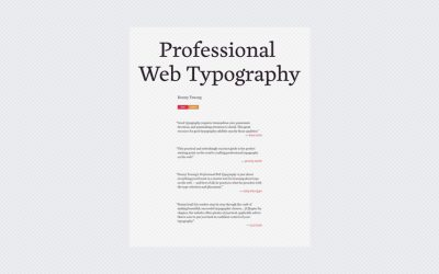 Professional Web Typography