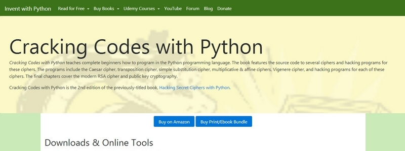 Cracking Codes with Python 2nd Edition | Download Free