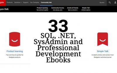 33 SQL, .NET, SysAdmin and Professional Development Ebooks