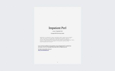 Impatient Perl