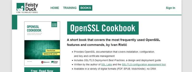 OpenSSL Cookbook: A Guide to the Most Frequently Used